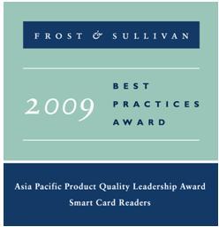 """龙杰智能卡(ACS)荣获""""智能卡读写器产品质量领袖奖"""""""