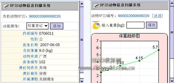 嵌入式RFID移动PDA动物信息扫描系统