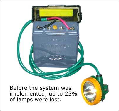 RFID系统实施前,高达25%的安全灯会丢失